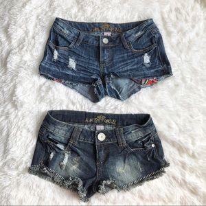 Bundle of 2 Almost Famous Denim Shorts